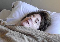 Pix Ronda conked out in hospital bed